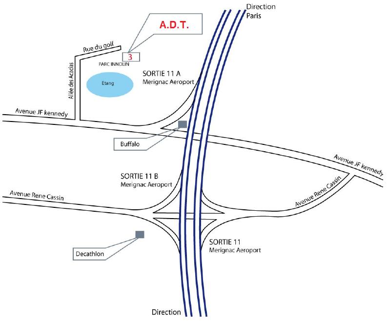 Plan de l'agence de traduction Bordeaux