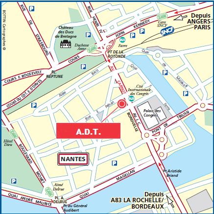 Acessibilité de l'agence de traduction nantaise A.D.T.