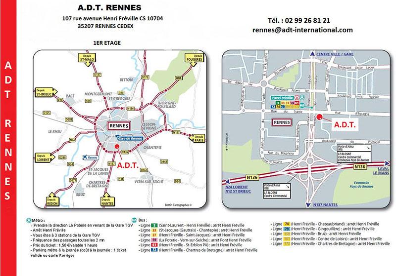 L'accès à notre agence de traduction à Rennes